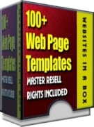 Thumbnail 100+ WebPage Templates - With Master Resale Rights