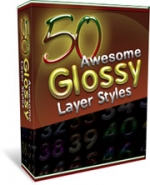 50 Glossy Layer Styles With Master Resale Rights