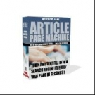 Thumbnail Article Page Machine With Resell Rights