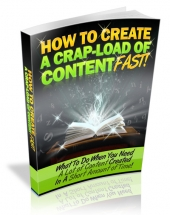 How to Create a Crapload of Content Fast - With Master Resale Rights