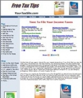 Thumbnail Taxes Website - With Private Label Rights